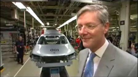 SAAB萨博汽车重新开张生产001号新牌头车
