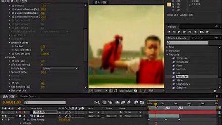 凌晨两点蓝AE实例教程31镜头1打鼓粒子效果