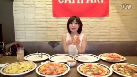 【大胃王木下祐嘩】午餐披萨全种类8个3.2kg