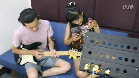 米星星吉他星歌小教室♫ (012)小黃人minions電吉他Solo點弦教學