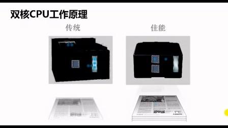 佳能A3幅面激光打印机双核CPU与传统打印机对比