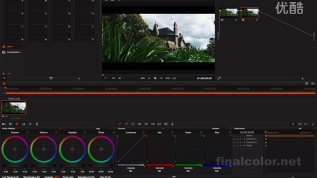 davinci resolve - pivot 调色功能