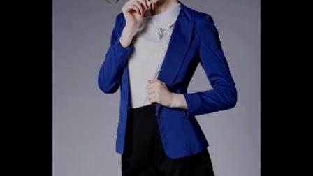 520908620378_小西装女2015夏外套长袖欧美小西服中长款修身