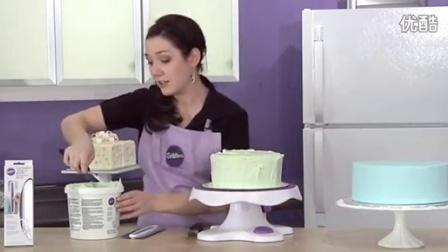 5 生日蛋糕制作wilton竖面专用抹刀竖面抹面操作方法
