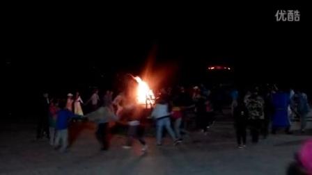 青春户外贡格尔草原篝火狂欢夜一