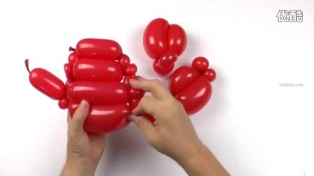 螃蟹魔术气球视频造型教程
