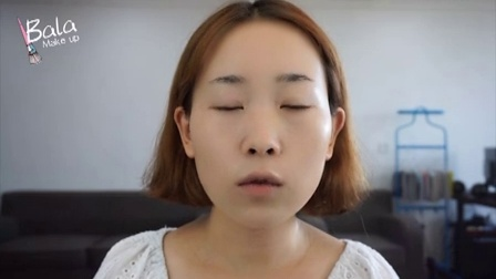 bala模仿《制作人》中唯美清透纯韩式妆容