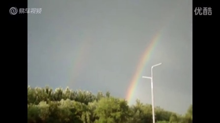 【拍客】乘车也能看风景 大庆雨后现双彩虹