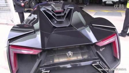 莱坎 赫珀 超跑 Lykan HyperSport by W-Motors - driving on the road in Monaco!