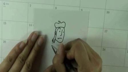 《卡通人物画家》简笔画教程