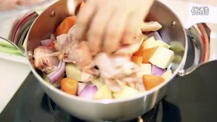 无水大盘鸡,免水烹饪好营养 三生派+健康时尚锅具菜谱演示