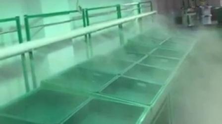 生鲜超市蔬菜货架保鲜喷雾大雾量演示