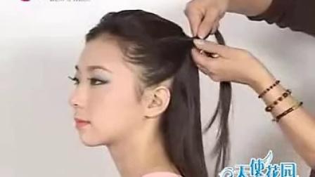 盘发发型教程,圆脸适合的发型