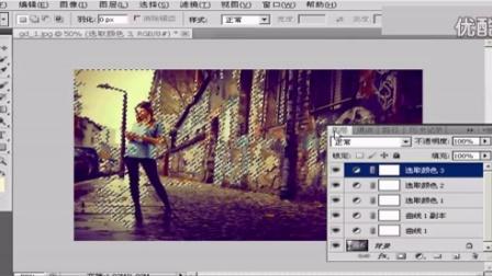 PS视频制作深色怀旧的颓废街拍照片