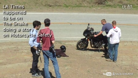 Motorcycle Crashes while LA TImes is doing story on Motorcycle Safety