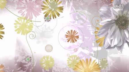 L00223精品冲冠LED视频设计大屏幕素材 唯美清新矢量花朵背景鲜花