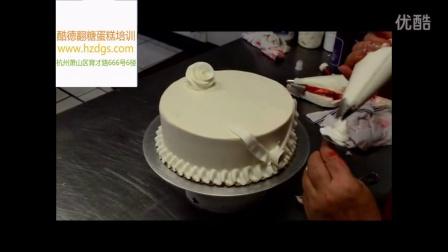杭州翻糖蛋糕培训--白色玫瑰蛋糕