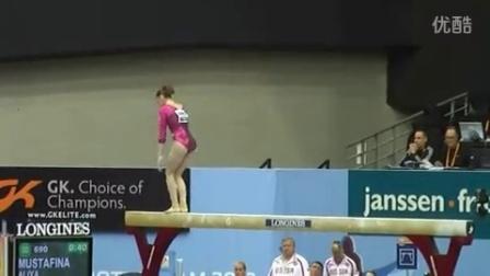 【2010世锦赛】女子体操 资格赛 平衡木 穆斯塔芬娜