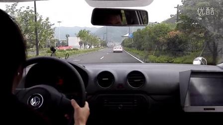 杭州富阳场口驾驶证考试科目三租车练习视频20150826