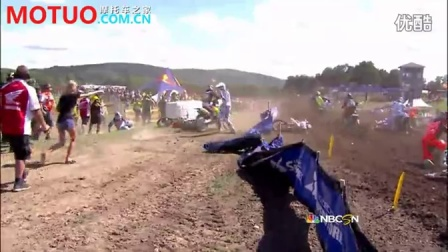 [越野赛事]Trey Canard Big Holeshot Crash-2013 Unadilla MX 450 Moto 2-MOTUO.COM.CN