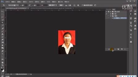 photoshop cc视频教程 证件照动作神速排版