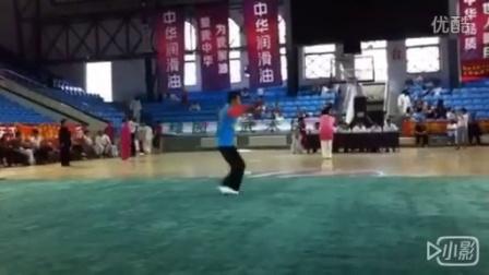 2015长春市武术比赛,少林四门双刀,长春市二道区少林拳研究会,会长杨松