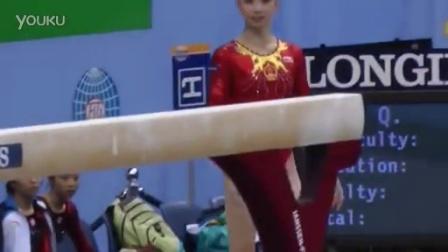 【2010世锦赛】女子体操 资格赛 平衡木 杨伊琳