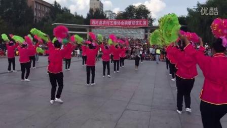 黑龙江省通河县祥顺乡东六方村舞蹈队演出二