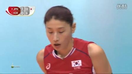 [HD]2015女排世界杯日本vs韩国全场比赛录像