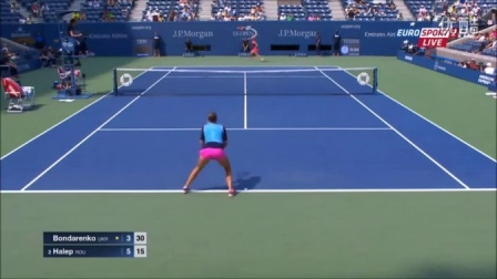 2015 美网 女单 R2 哈勒普 Simona Halep vs Kateryna Bondarenko Highlights US OPEN 2015