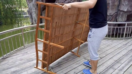 清心竹坊户外打开折叠竹床视频教程