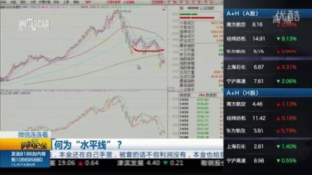 谈股论金 150902水平趋势线