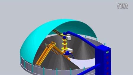 【南通奥普机械】圆形顶堆侧取堆取料机