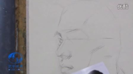 开封美术培训班|开封艺宇沈教授素描头像起稿|河南画室排名