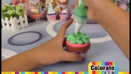 卡乐淘超轻粘土-胶杯蛋糕制作DIY示范