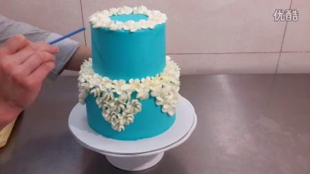 创意翻糖蛋糕 奶油蛋糕装饰裱花制作教程