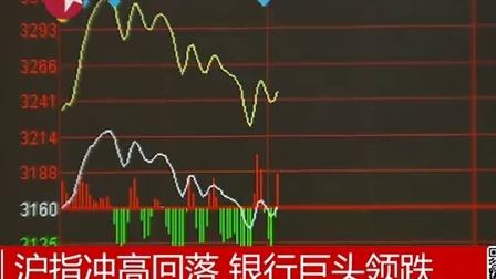沪指冲高回落 银行巨头领跌 东方大头条
