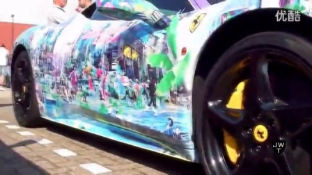 [新车]法拉利Ferrari 458 Italia Art Car Designed by Joseph Klibansky-汽车视频
