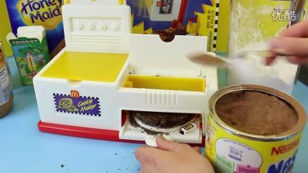 麦当劳欢乐套餐的饼干机/机械玩具
