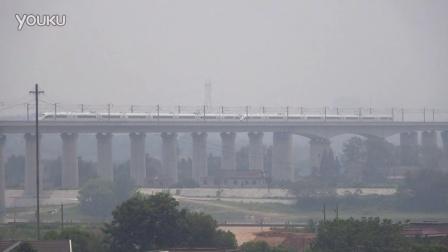 [拍火车]重连CRH380B型动车组(G286)沪昆高铁 湘江大桥上行
