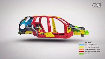 [新车]运用多种材料2015年的沃尔沃Volvo XC90 - 车身结构展示-汽车视频