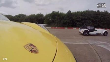 [新车]直线加速赛保时捷 Cayman S v Caterham 7 Roadsport-汽车视频