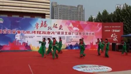 满城区快乐舞蹈队参加【河北省幸福跳起来】保定市地区复赛第三名-映山红