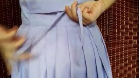 汉尚华莲汉服 袄裙穿着教程视频 如何穿明制袄裙 穿法 这么穿