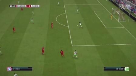 1516赛季 德甲联赛第6轮 拜仁慕尼黑 VS 沃尔夫斯堡 上半场 FIFA16 解说