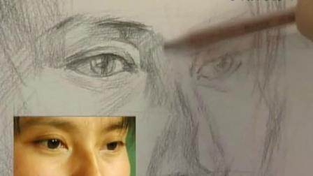 向阳素描人物头像素描