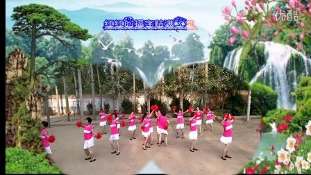 红红的中国 变队形枣营庄阳光舞蹈队表演