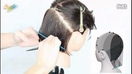第五款发型修剪:零层次方形