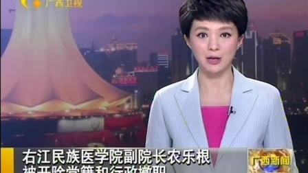 右江民族医学院副院长农乐根被党籍和行政撤职 150928 广西新闻