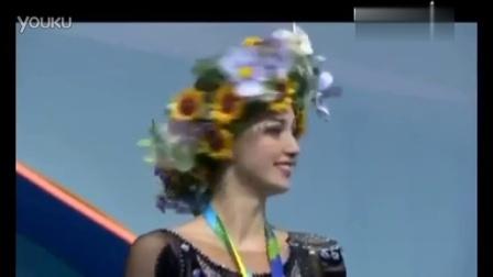 乌克兰运动员在上台领奖时听到俄罗斯国歌